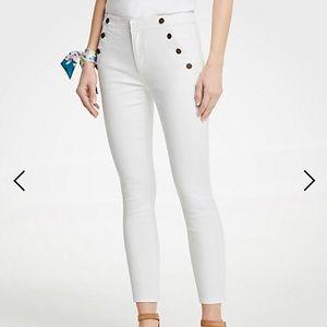 Ann Taylor Sailor Skinny Crop Jeans (NOWT)